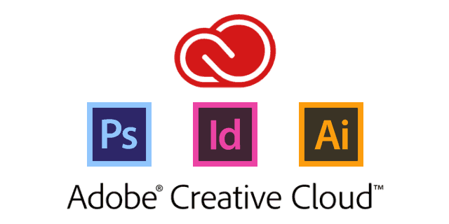 Adobe Creative Cloud - Photoshop, InDesign and Illustrator