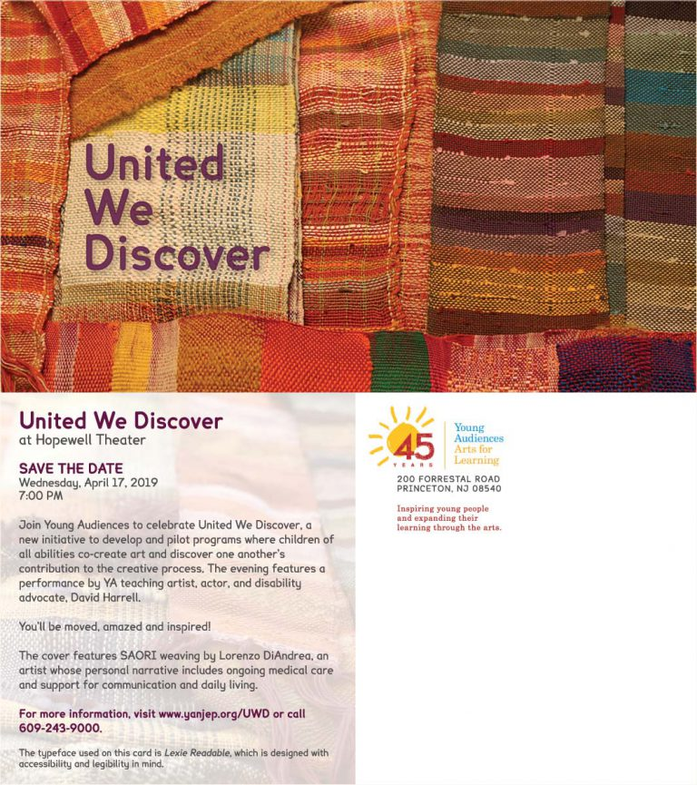 United We Discover Save the Date Card